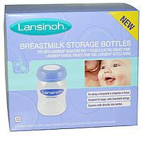 Lansinoh, Бутылочки для хранения грудного молока, 4 бутылочки по 5 унций (160 мл) каждая