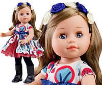 Кукла Paola Reina подружка Эмма в платье с цветами, 40 см (Paola Reina 06016)