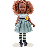 Кукла Paola Reina чудесная кучерявая Кристи в голубом платье с розой, 32 см (Paola Reina 04512)