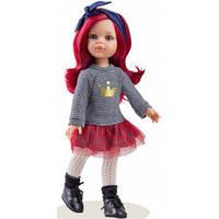 Кукла Paola Reina изысканная Даша в серо-красном платье, 32 см (Paola Reina 04513)