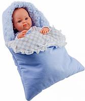 Пупс младенец Paola Reina Боб в теплом голубом конверте, 32 см (Paola Reina 05106)