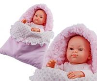 Пупс младенец Paola Reina Роза в теплом розовом конверте, 32 см (Paola Reina 05105)