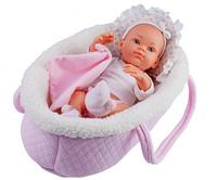 Пупс младенец Paola Reina Роза с розовой переноской, 32 см (Paola Reina 05102)