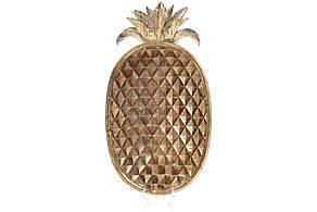 Декоративне Блюдо Ананас 38.5 см колір - золото антик (434-114)