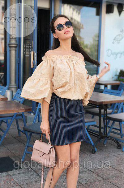 Стильная женская женская блузка модель 0611, Размеры: 1(42-48); 2(50-58)