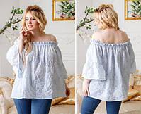 Стильная женская женская блузка модель 0611, Размеры: 1(42-48); 2(50-58), фото 3