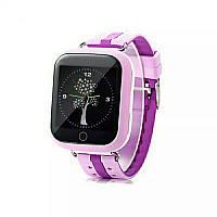 Q100s детские умные часы с gps Smart baby watch Сереневые