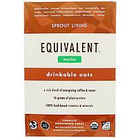 Sprout Living, Equivalent, Питьевые овсяные хлопья, Мокко, 8 пакетов, 1,7 унции (48,5 г) каждый