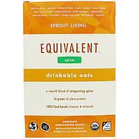 Sprout Living, Equivalent, Питьевые овсяные хлопья, Специи, 8 пакетов, 1,7 унции (48,5 г) каждый