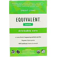 Sprout Living, Equivalent, Питьевые овсяные хлопья, Маття, 8 пакетов, 1,7 унции (48,5 г) каждый