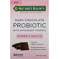 Nature's Bounty, Optimal Solutions, Dark Chocolate Probiotic, 30 Decadent Chocolate Pieces