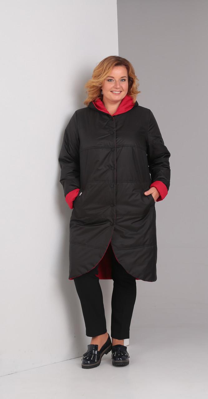 Куртка Диамант-1328/2 белорусский трикотаж, черный с красным, 50