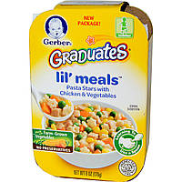 Gerber, Graduates for Toddlers, Lil' Meals, макароны в форме звездочек с курицей и овощами, 6 унций (170 г)