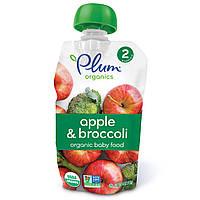 Plum Organics, Органическое детское питание, 2 этап, яблоко и брокколи, 4 унции (113 г)