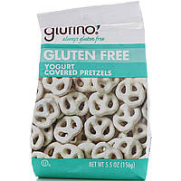 Glutino, Крендели с йогуртом, без глютена, 5,5 унции (156 г)