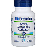Life Extension, AMPK, активатор метаболизма, 30 вегетарианский таблеток