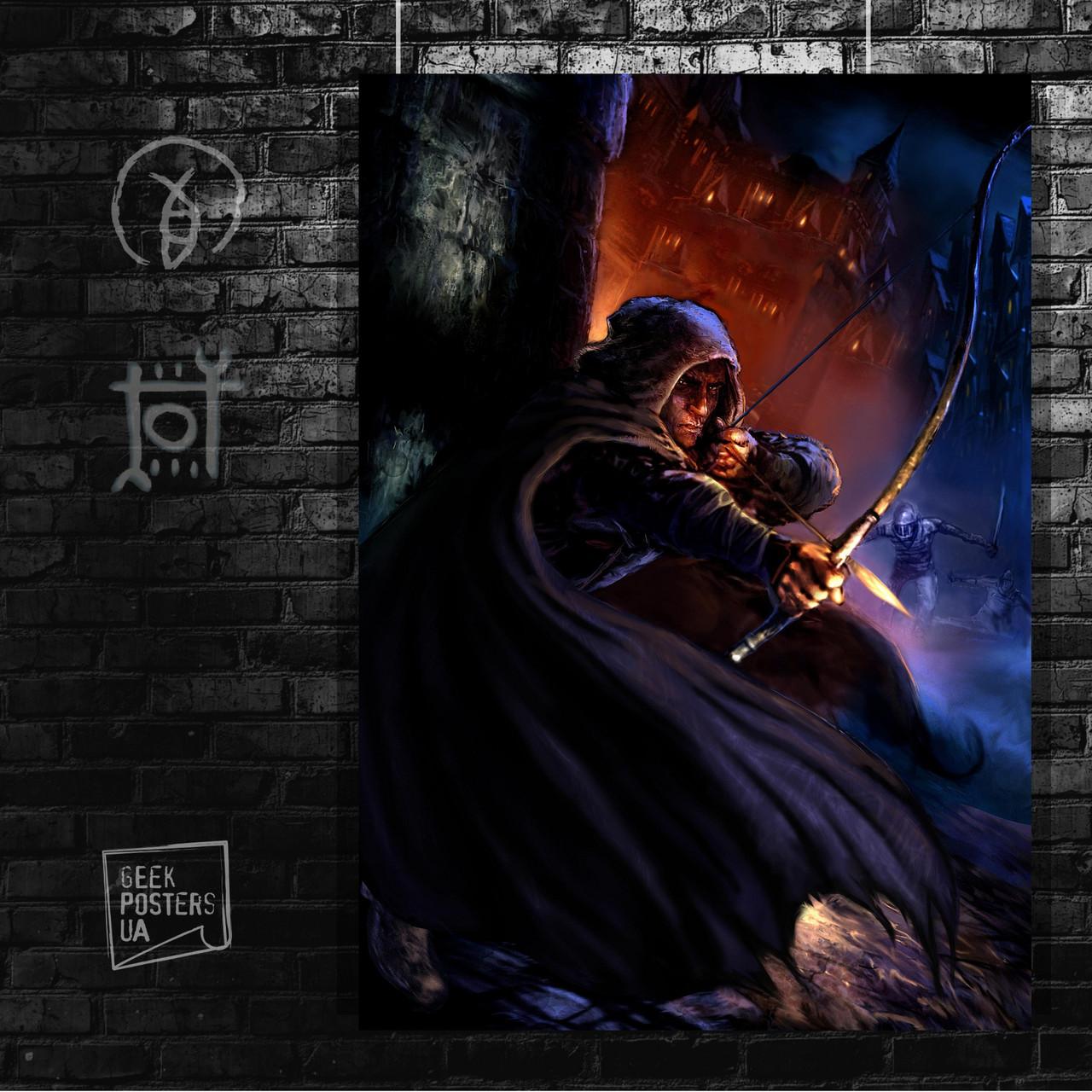 Постер Thief: The Dark Project, Вор: Тёмный Проект. Размер 60x42см (A2). Глянцевая бумага
