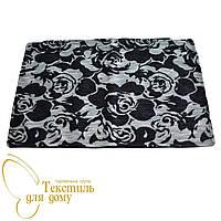 Наволочка декоративная рельефные цветы BURGAZ, 50*70, черный