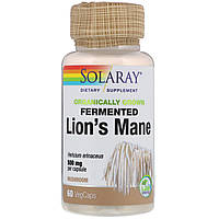 Solaray, Organically Grown Fermented Lion's Mane Mushroom, 500 mg , 60 VegCaps