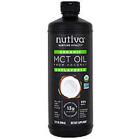 Nutiva, Organic, MCT Oil From Coconut, Unflavored , 32 fl oz (946 ml)