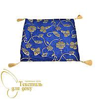Наволочка декоративная с золотым цветком ANTIK KARANFIL