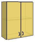 """Верхний навесной кухонный корпус серии """"Эконом"""" цвет фасада (сакура бела и черная, оранж, светло синий, дуб белый)"""