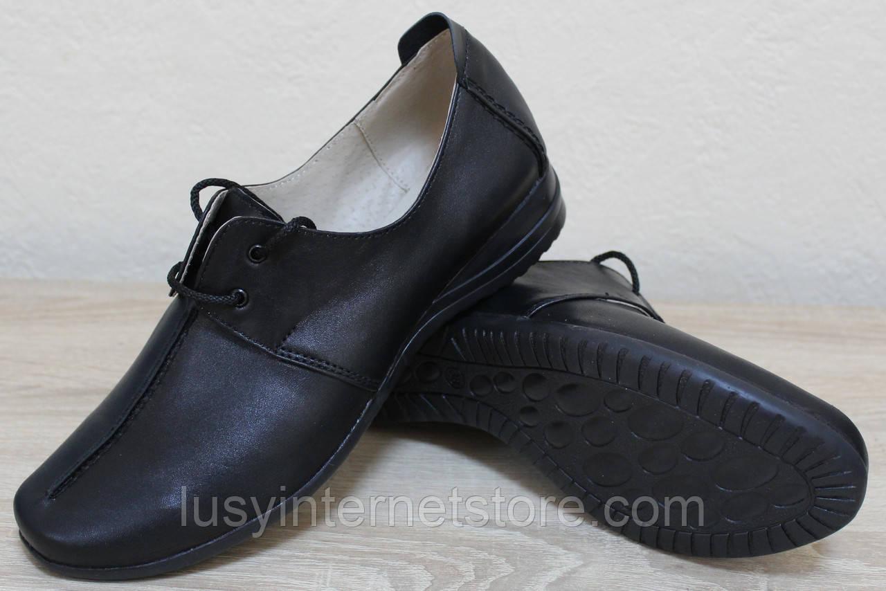 Жіночі шкіряні туфлі на широку ногу від виробника модель НТ9