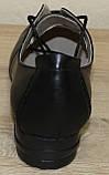 Жіночі шкіряні туфлі на широку ногу від виробника модель НТ9, фото 7