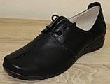 Жіночі шкіряні туфлі на широку ногу від виробника модель НТ9, фото 3