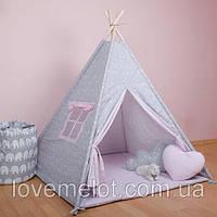 """Детская палатка   с ковриком, окошком (Подушка в подарок) Розовая Мечта"""", фото 1"""