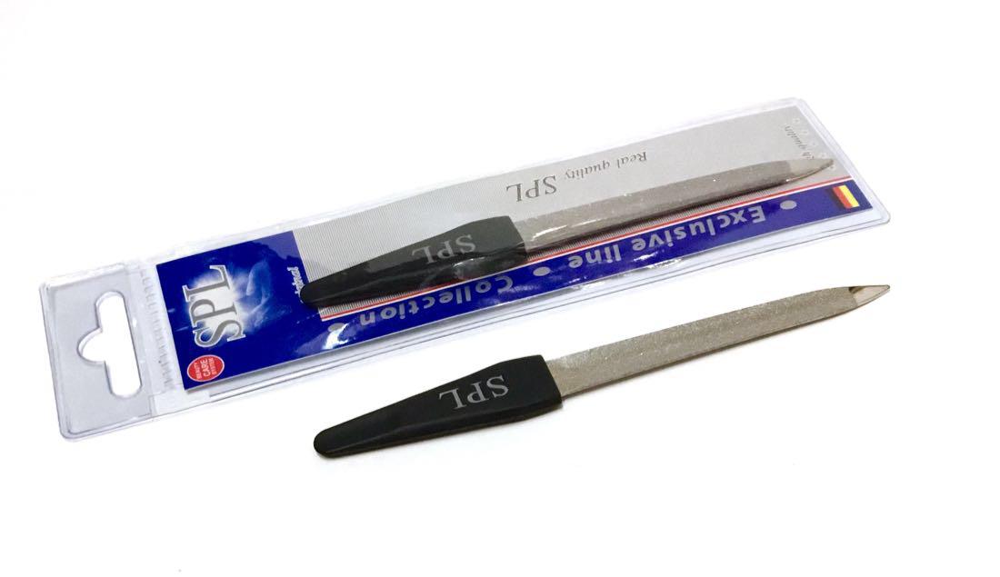 Пилочка для ногтей SPL 90168, изогнутая с алмазным напылением 12,5 см