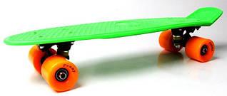 Penny Board Салатовый цвет Оранжевые колеса Гарантия качества Быстрая доставка