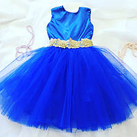 """Пышное. нарядное платье на девочку """"Электрик"""" (размеры 92, 98, 104, 110, 116)"""