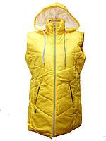 Жилетка женская на синтепоне желтая, плащевка (44 46 48 50) Украина 4 шт.