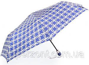Полуавтоматический женский зонт  ZEST Z23629-3262B, синий