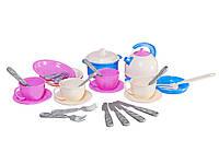 Набор детской посудки Маринка 11 пластмасса Технок