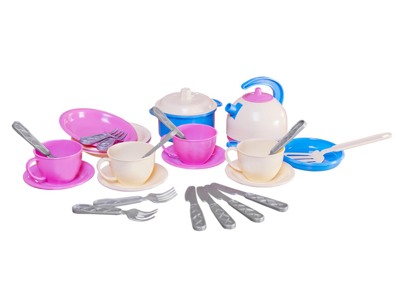 Набор детской посудки Маринка 11 пластмасса Технок - Style-Baby детский магазин в Киеве