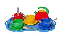Игровой набор детской посудки Маринка 6 пластмасса Технок