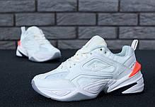 Кроссовки мужские Nike M2K Tekno белые топ реплика, фото 3