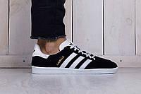 Мужские Кроссовки Adidas Gazelle Black Реплика