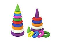 Детская игрушка для малышей Пирамидка выдувная ТехноК пластик