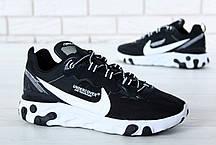 Кроссовки мужские Undercover x Nike React Element 87 черно-белые топ реплика, фото 3
