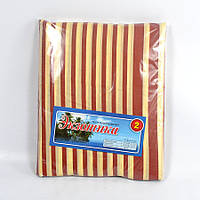 Бежевое постельное белье с абстракцией полуторное из дешевой бязи