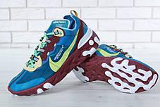 Кроссовки мужские Undercover x Nike React Element 87 Blue топ реплика, фото 3