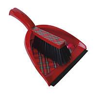 Набор для уборки совок и щетка красный YORK HIM-Y-062131