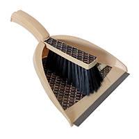 Набор для уборки совок и щетка бежевый YORK HIM-Y-062133