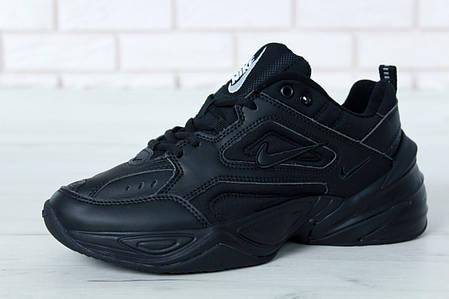 Кроссовки мужские Nike M2K Tekno черные топ реплика, фото 2