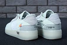 Кроссовки мужские Off-White X Nike Air Force топ реплика, фото 2