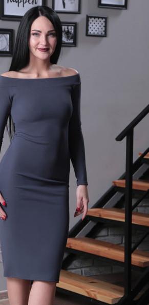36cfbdc7f92 Стильное и сексуальное платье с открытыми плечами - Booms.com.ua- интернет  магазин