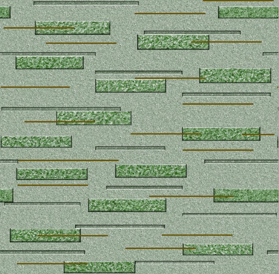Обои бумажные влагостойкие Корнет зеленый 2171